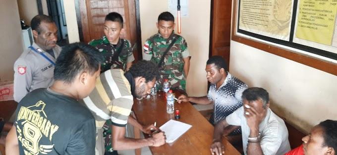 Mediasi Satgas Yonif R 300, Cegah Pertikaian Warga Keerom