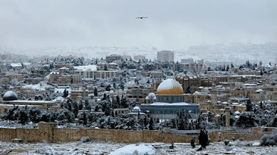 Jerusalem was suddenly covered with snow Planet-Today.com