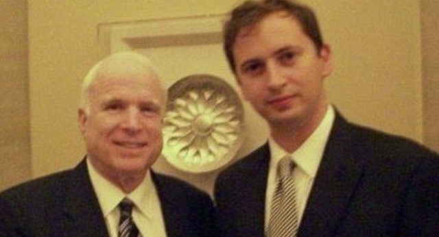 "Photo Unearthed of John McCain with ""Source D-Source E"" of Steele Dossier -- Sergei Millian"