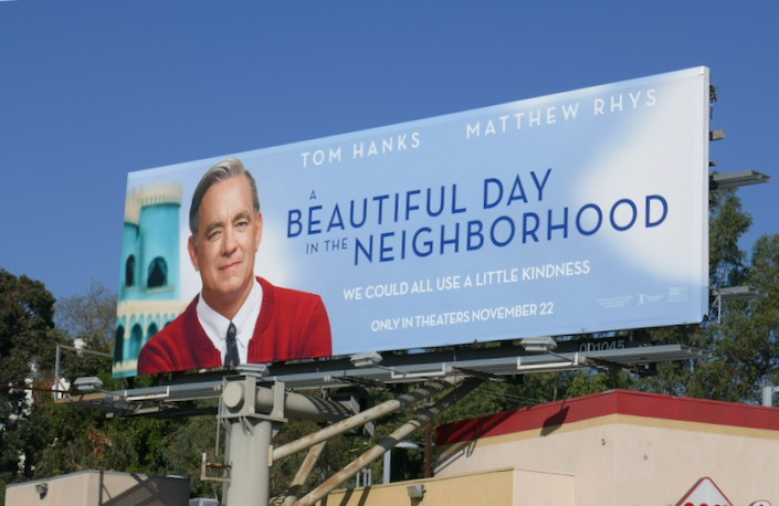 A Beautiful Day in the Neighborhood movie billboard