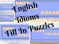 English Idioms-Fill in Puzzles for Kids with answers