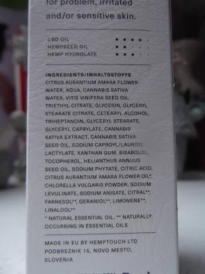 Hemptouch vyrovnávajúci pleťový krém pre mastnú pleť zloženie