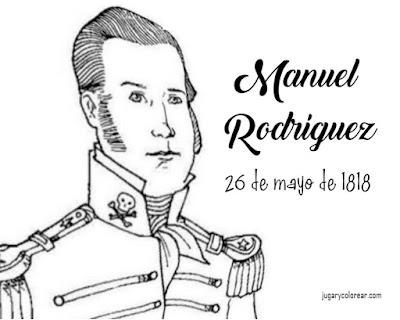 26 de mayo de 1818:  dibujo de  Manuel Rodríguez para colorear