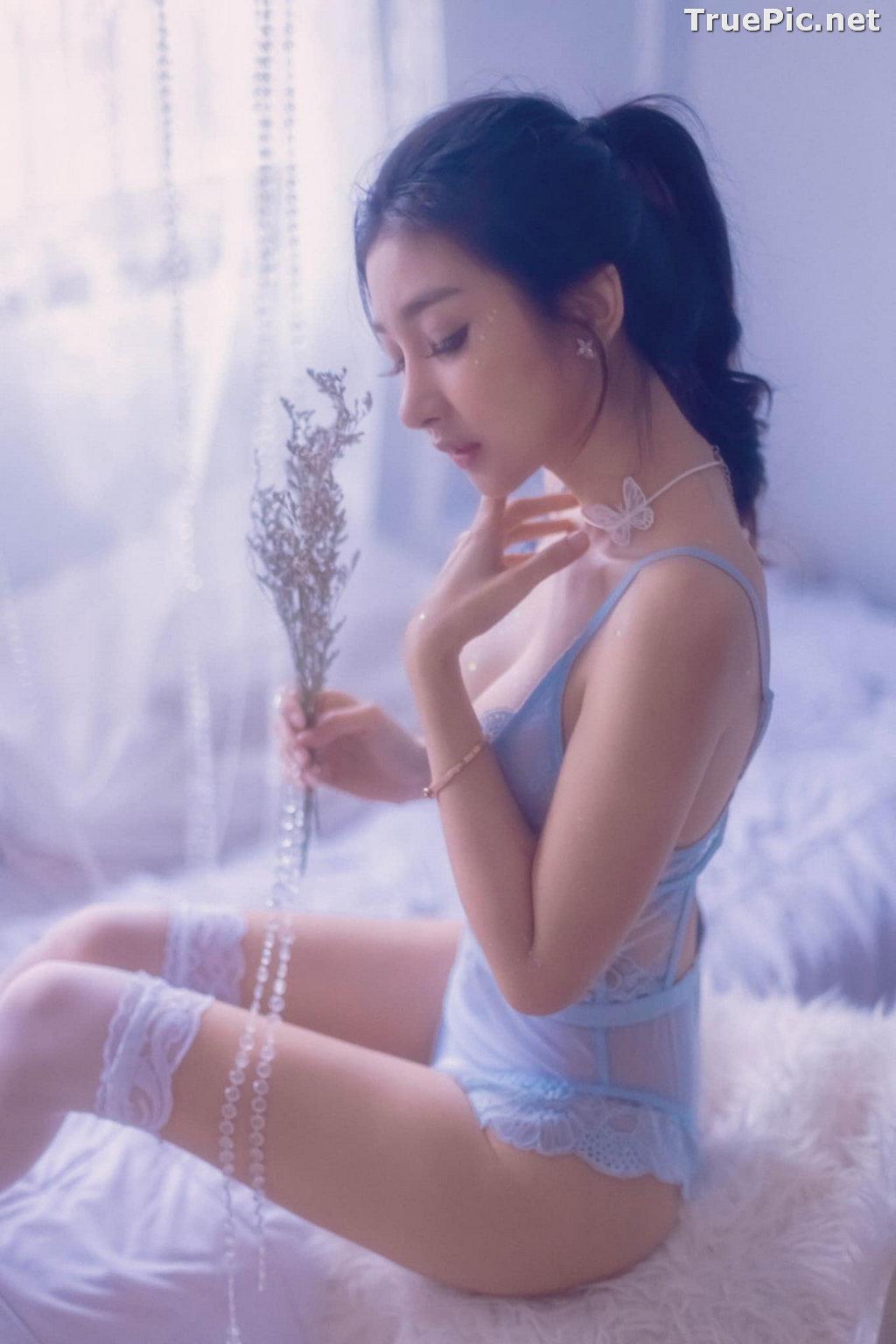 Image Thailand Sexy Model - Pattamaporn Keawkum - Blue Transparent Lingerie - TruePic.net - Picture-7