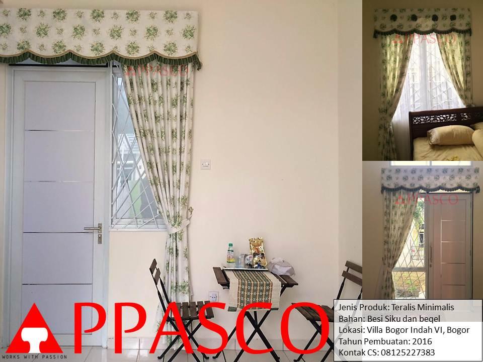 Teralis Minimalis di Villa Bogor Indah