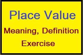 Place Value Meaning, Definition and Worksheet, place value in maths, international place value system, ones tens hundreds