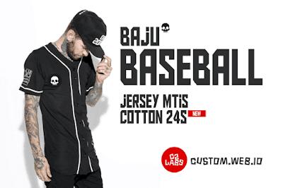New ! Harga Kaos Baseball Sablon dan Jersey Baseball Full Printing Full Color