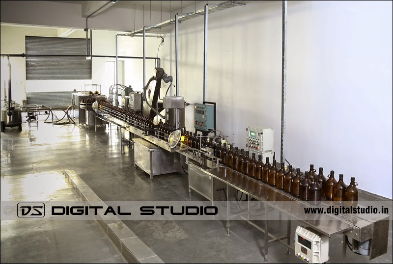 Bottling plant in a pharma company