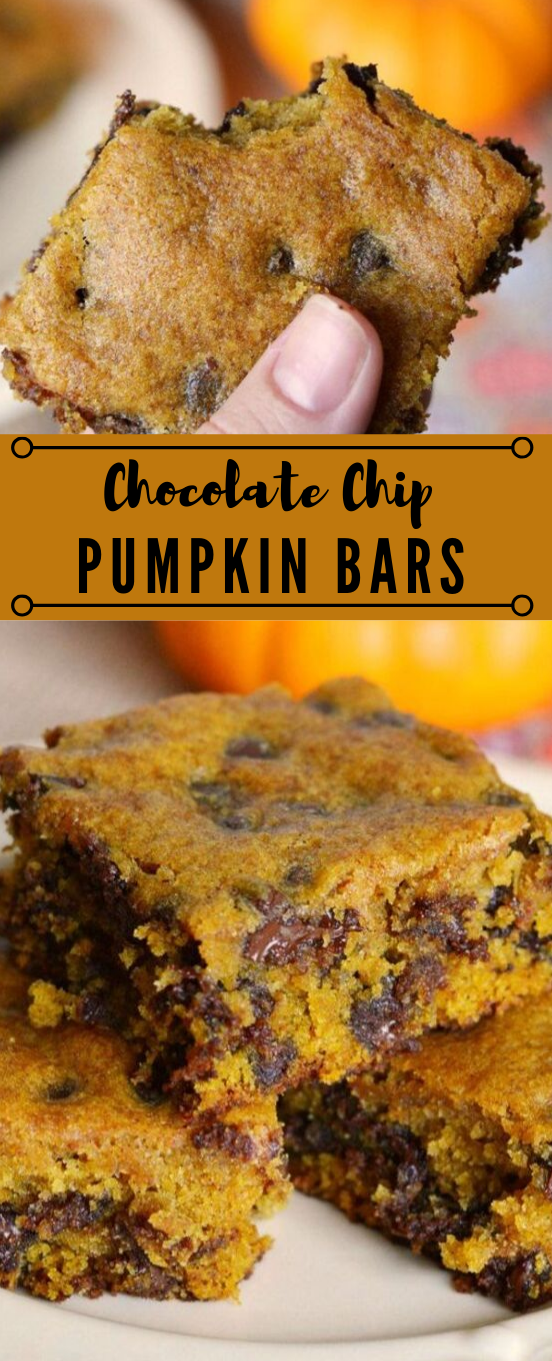 Delicious Pumpkin Chocolate Chip Bars #bars #diet #dessert #paleo #keto