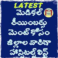 Latest medical reimbursement recognised hospitals list.. District wise..  Recognised Hospitals List for medical Reimbursement in Andhra Pradesh