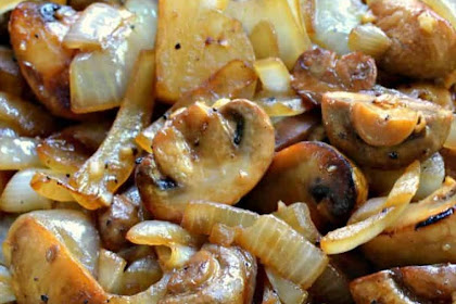 6 INGREDIENTS SAUTEED MUSHROOMS AND ONIONS