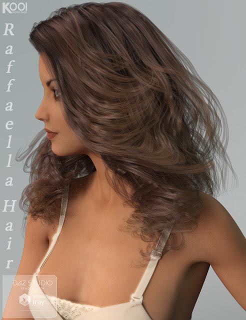 Raffaella Hair for Genesis 3 Female