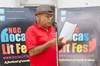 Motilal Boodoosingh Reading at Bocaslitfest