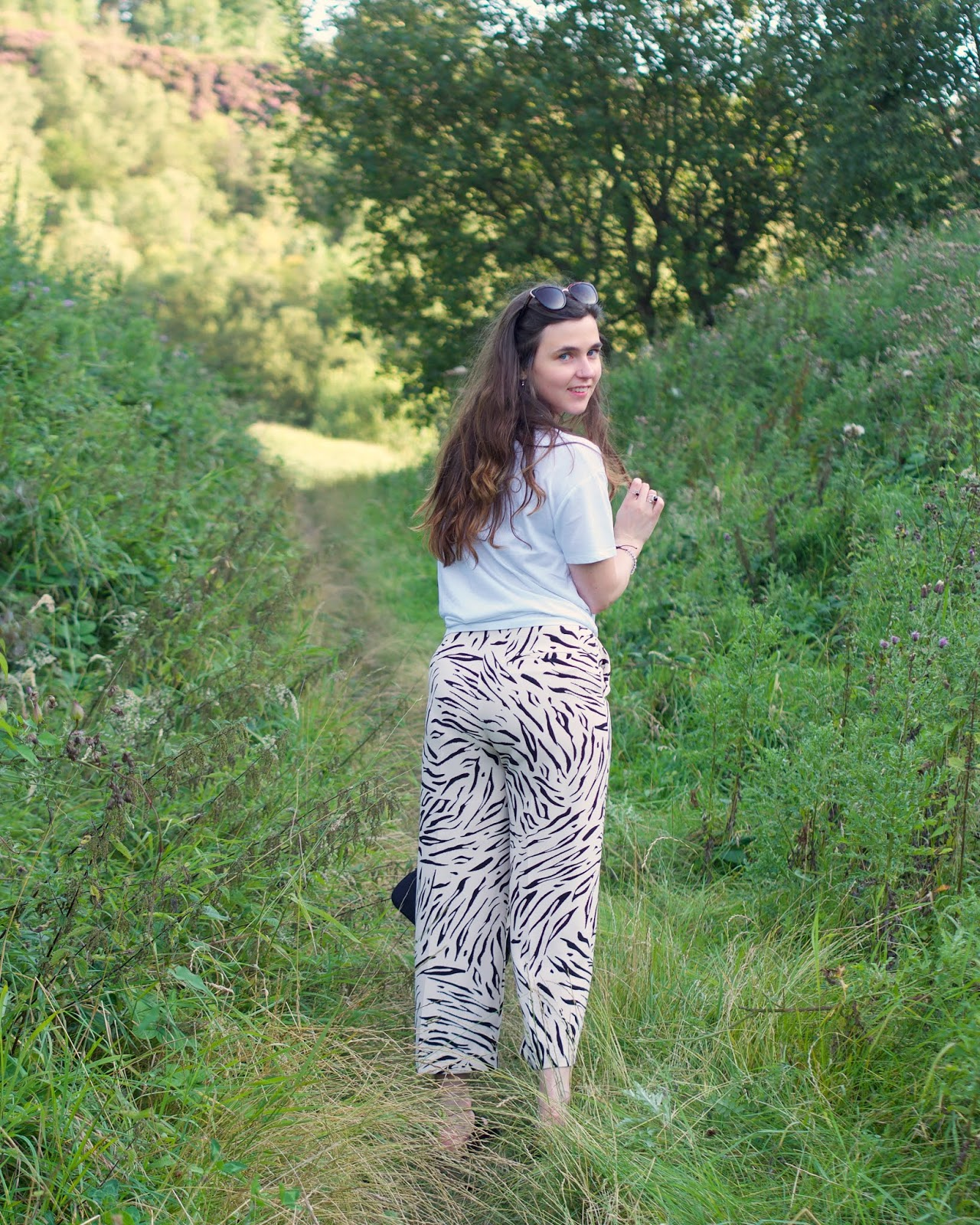M&S cropped trousers