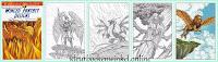 CH 191 kleurboek winged fantasy designs