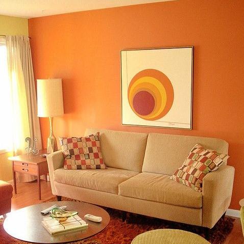 Warna Cat Orange pada Rumah Bagian Dalam