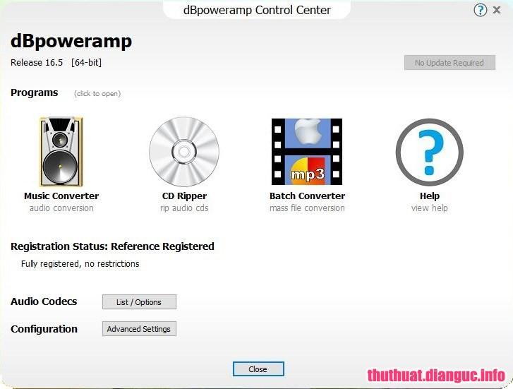 dBpoweramp Music Converter R16.5 Full Cr@ck – Chuyển đổi mọi định dạng âm thanh