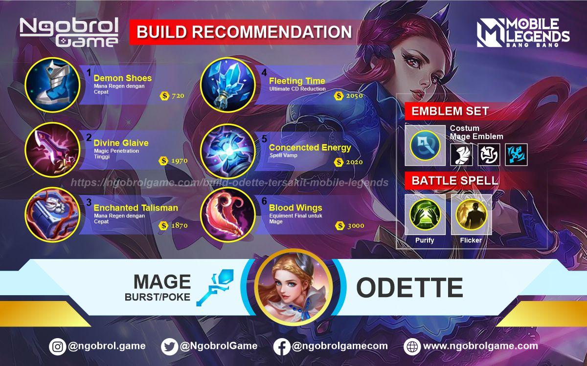 Build Odette Tersakit 2021 Mobile Legends