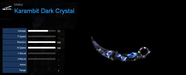 Detail Statistik Karambit Dark Crystal