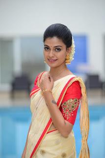 Malayalam Actress Anusree in kerala set saree Photoshoot stills