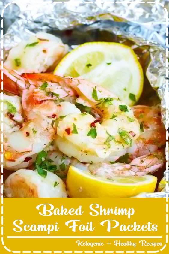 Easy Baked Shrimp Scampi Recipe made in Foil Packets Baked Shrimp Scampi Foil Packets