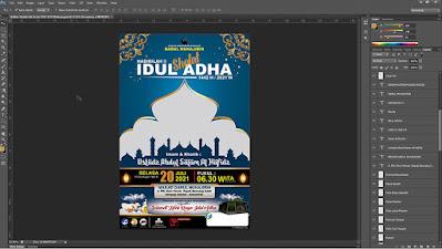 Banner Baliho Sholat Eid CDR