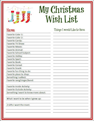 Adorable image intended for free printable wish list