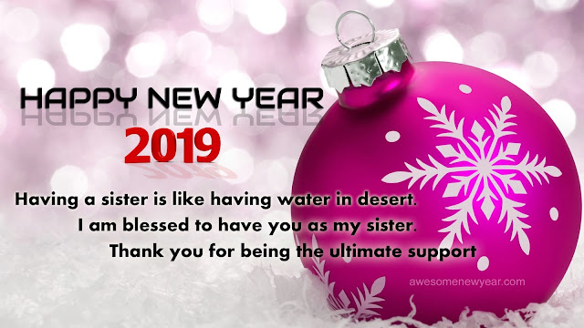 New Year 2019 Quotes for Sister