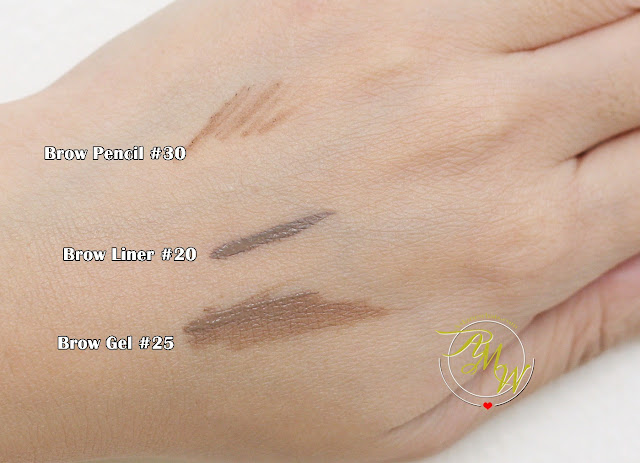 a swatch photo of How To Use Make Up For Ever's Brow Liner, Brow Gel + Brow Pencil