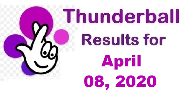 Thunderball Results for Wednesday, April 08, 2020