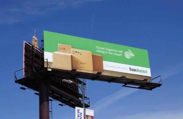 Task Rabbit Closet organizer billboard