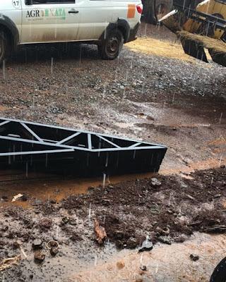 Chuva com granizo em Mato Rico