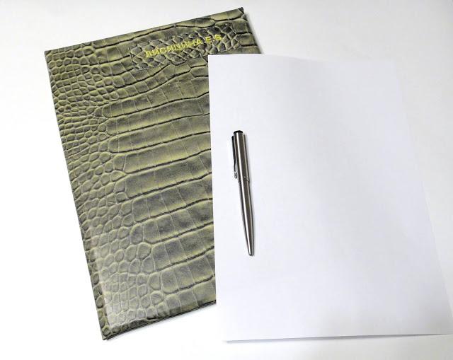 Папка кожаная для документов на подпись - оттенок шкуры на усмотрение заказчика. Доставка почтой или курьером