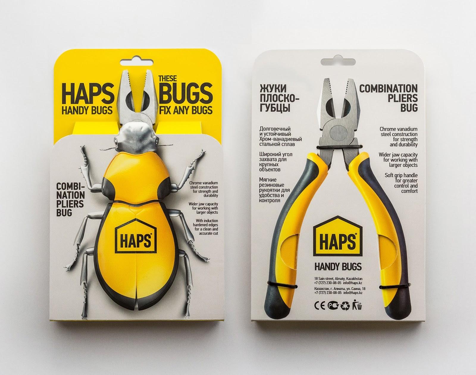 Thiết kế bao bì HAPS Bugs Kìm Handy
