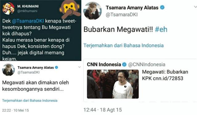 Tsamara Tercyduk Hapus Cuitan Lawas yang Ejek Megawati dan PDIP, Warganet Heboh
