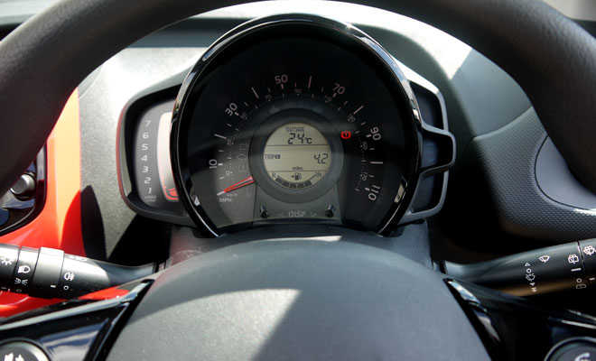 Citroen C1 Airscape instrument panel