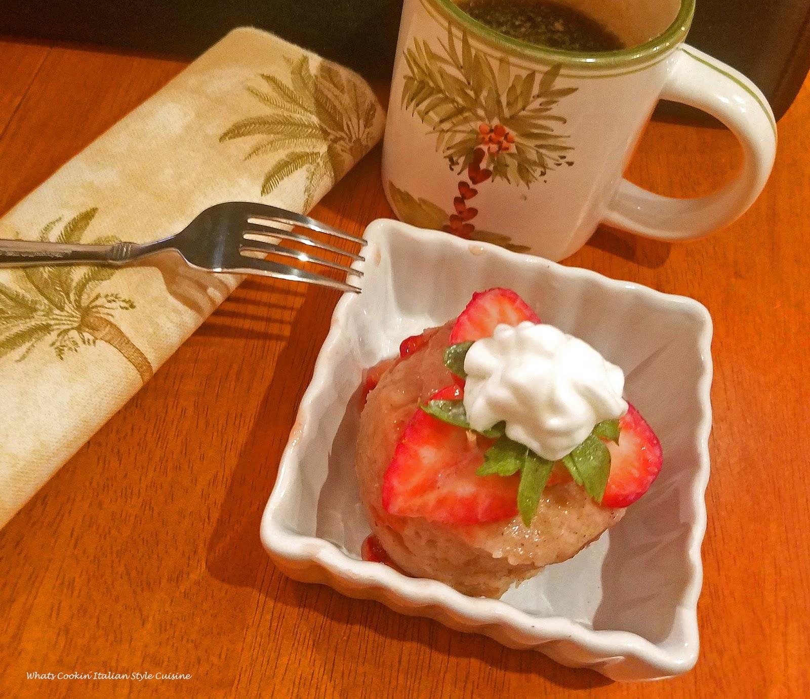 Microwave Applesauce Mug  Shortcake