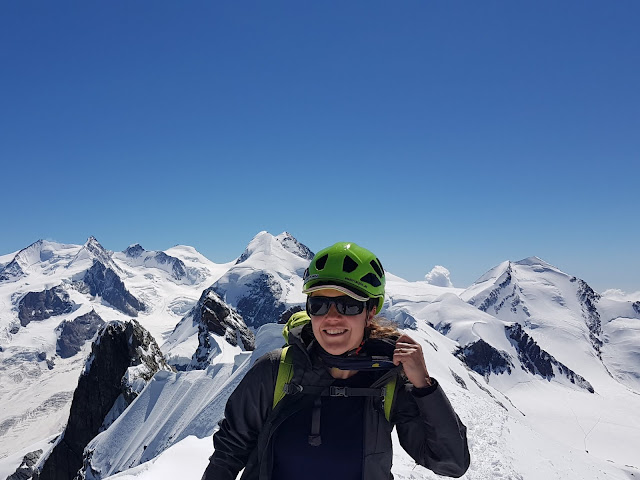 Lena Wilderäng, on Central Breithorn 4159 m