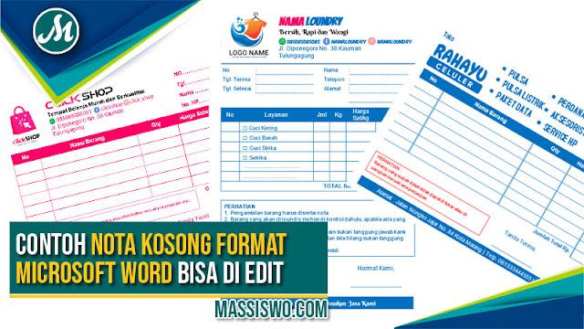 Download Nota Kosong Format Word
