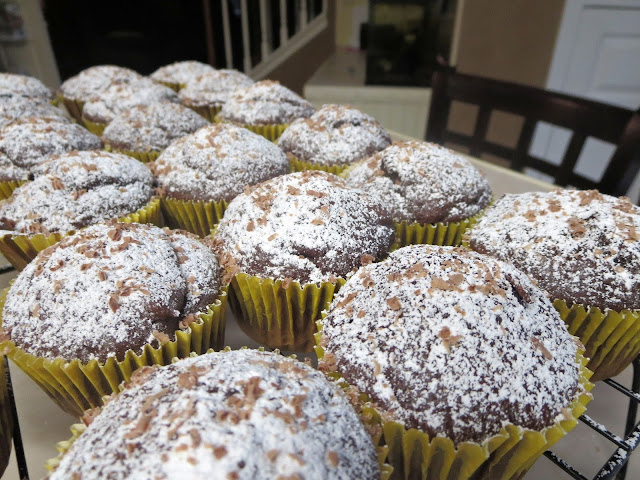 Powdered Sugar Topped Chocolate Cupcakes with Chocolate Shavings 3