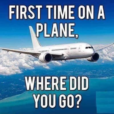 First time on an airplane... jokestotell.com