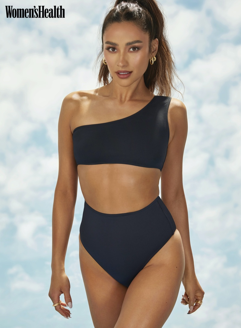 Flaunting her body, Shay Mitchell poses in Eres swimsuit with Loren Stewart and Lady Grey jewelry