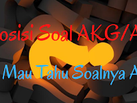 Komposisi Soal AKG/AKK/AKP Madrasah