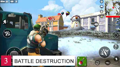 Game Battle Royale Offline Battle Destruction