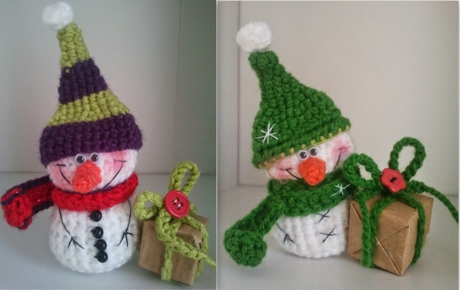 Вяжем амигуруми: Маленький снеговик
