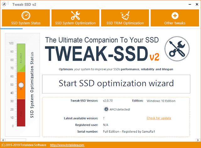 Screenshot Tweak-SSD Pro 2.0.70 Full Version