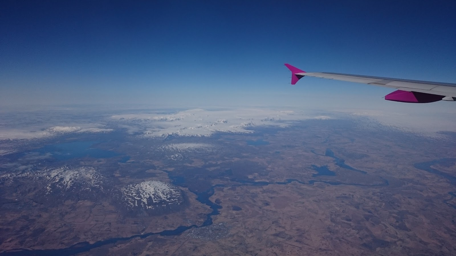 Islandia z pokładu samolotu, Islandia, krajobraz Islandii