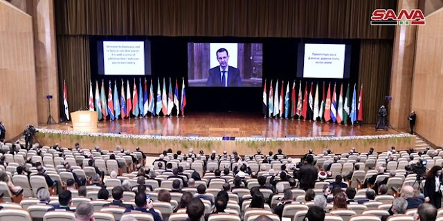 President al-Assad speech at opening of Int'l Conference on Return of Refugees