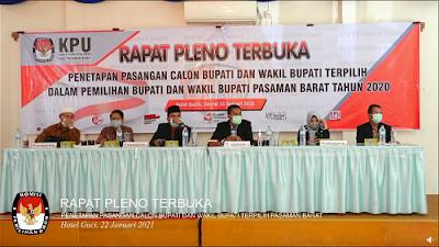 KPU Pasbar Tetapkan Hamsuardi -Risnawanto, Bupati dan Wakil Bupati Terpilih