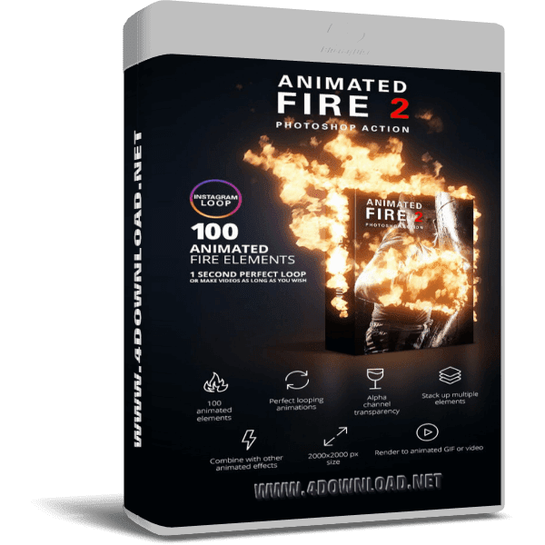GraphicRiver - Animated Fire 2 Photoshop Action